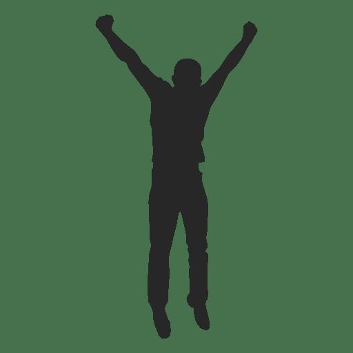 Man celebrating success 3 Transparent PNG