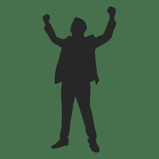 Man celebrating success 4 Transparent PNG