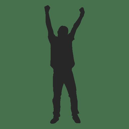 Man celebrating success 8 Transparent PNG