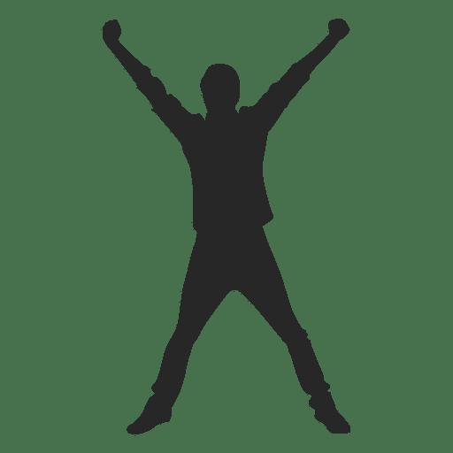Man celebrating success 9 Transparent PNG