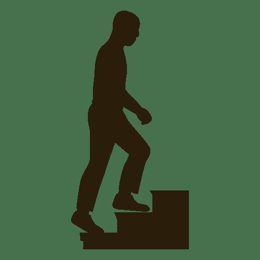 Hombre subiendo escaleras secuencia 10