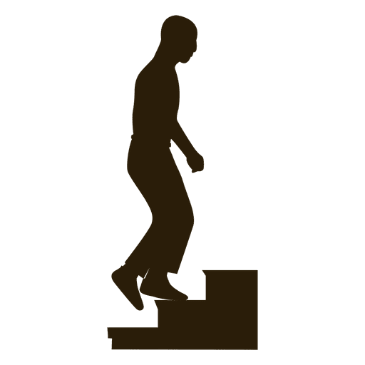 Man Climbing Stairs Sequence 3  Transparent PNG
