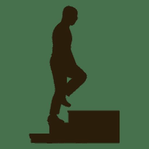Bald Man Climbing Stairs Sequence 6 Transparent PNG
