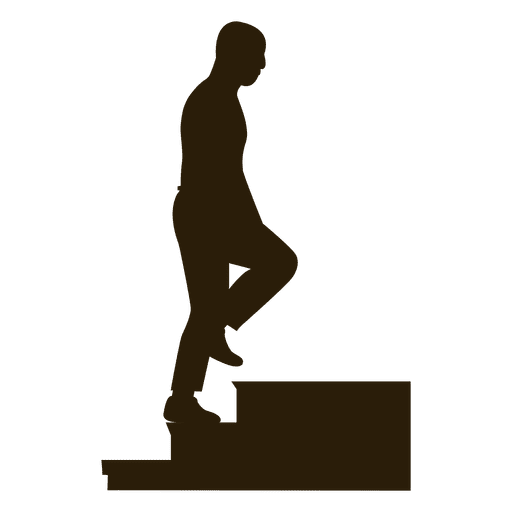 Bald Man Climbing Stairs Sequence 6
