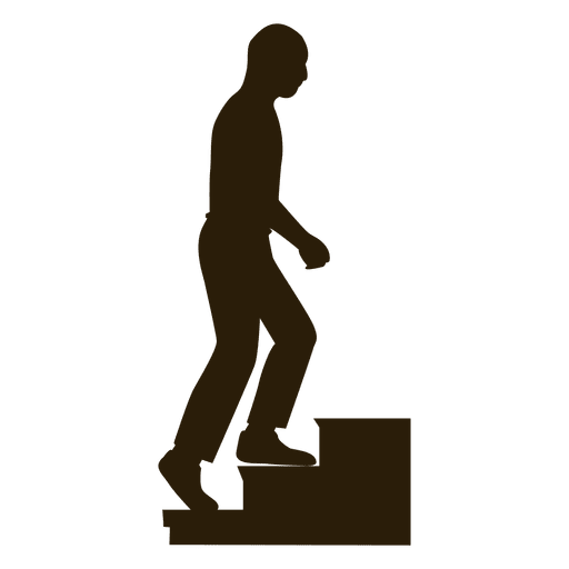 Bald Man Climbing Stairs Sequence 9 Transparent PNG