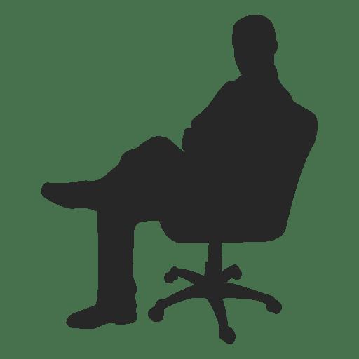 Man Sitting On Chair Silhouette Www Pixshark Com