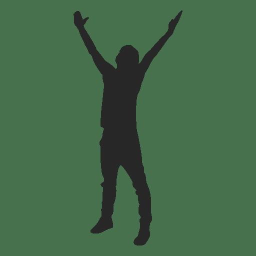 Hombre levantando las manos 1