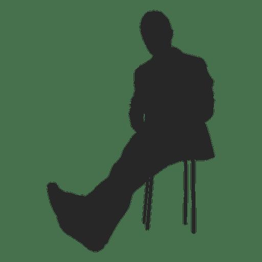 Hombre, relajante, en, banco Transparent PNG