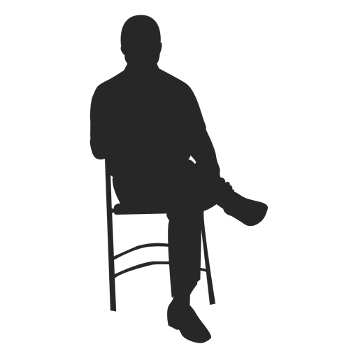 Man Sitting On Chair 1 Png