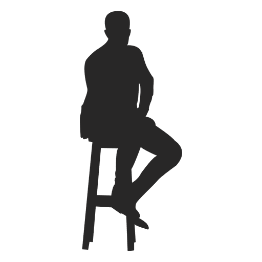 Man sitting on stool Transparent PNG