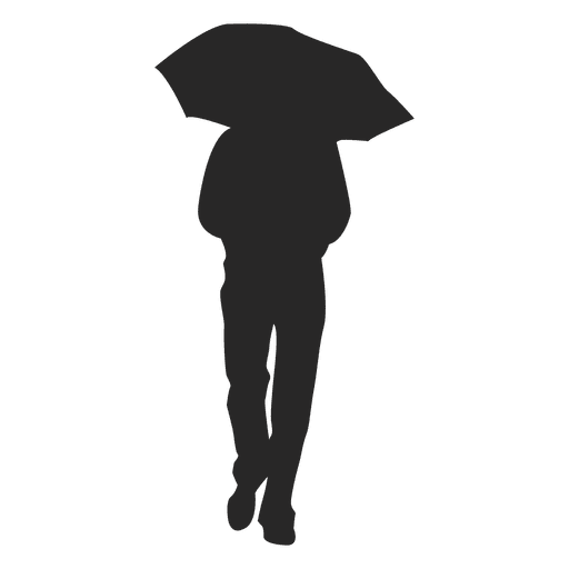 Man walking with umbrella Transparent PNG