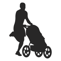 Man with child carriage