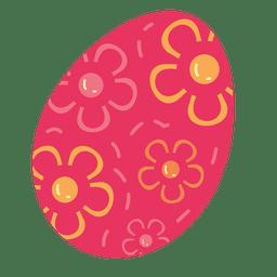 Ovo de Páscoa floral marrom