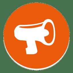 Mega Telefon rundes Symbol