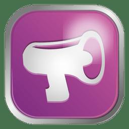 Icono de contacto de megáfono