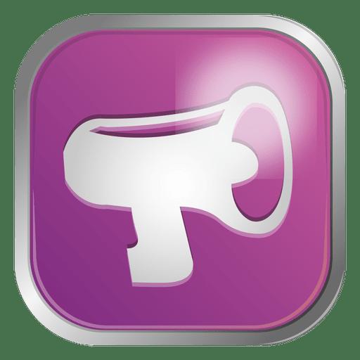 Icono de contacto de megáfono Transparent PNG