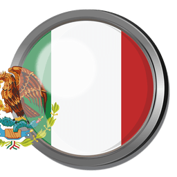 Crachá de bandeira do México