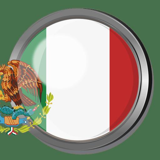 Mexico flag badge Transparent PNG