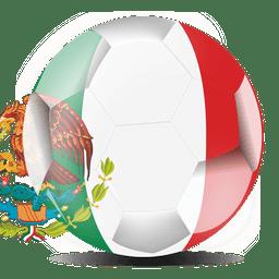 bandera de México de fútbol