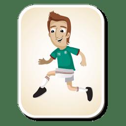 Desenho de jogador de futebol do México