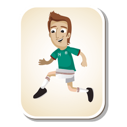 México desenhos animados do jogador de futebol
