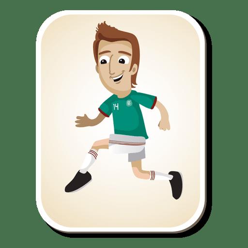 Mexico football player cartoon