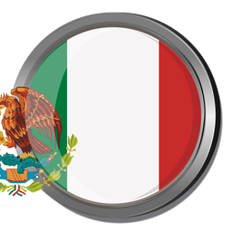 Mexiko runde Flagge
