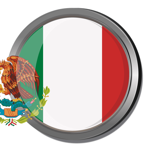 Mexico round flag Transparent PNG