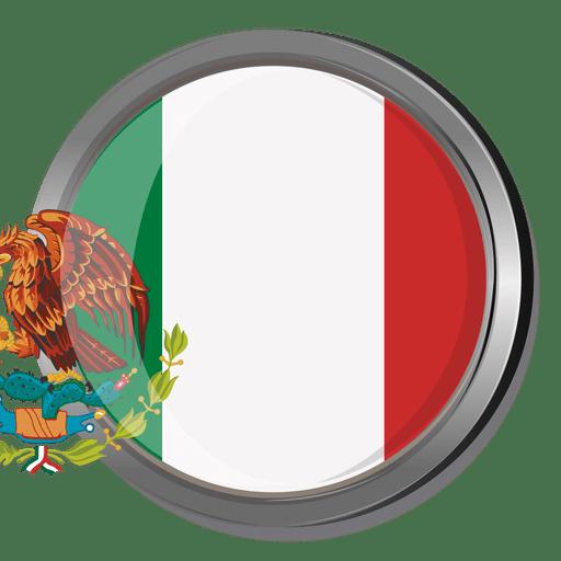 Mexico round flag