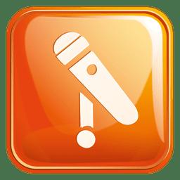 Ícone quadrado de microfone 3