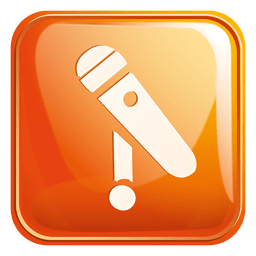 Microphone square icon 3