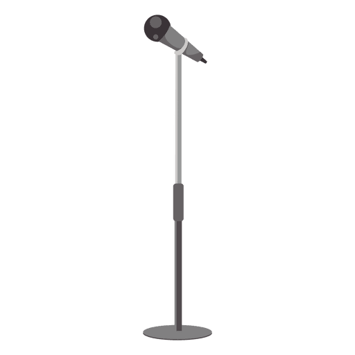 Microphone with stand Transparent PNG
