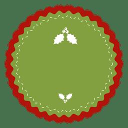 Mistletoe round label
