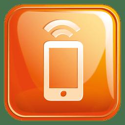 Icono cuadrado wifi móvil 3