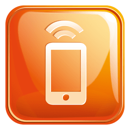 Mobile wifi square icon 3