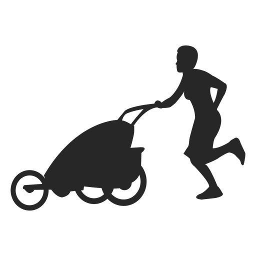 Mom with baby carriage Transparent PNG