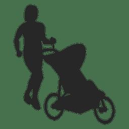 Mãe com carrinho de bebê 1