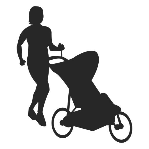 Mom with baby carriage 1 Transparent PNG