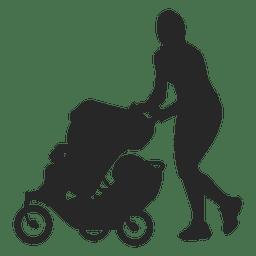 Mãe com carro de bebê 2
