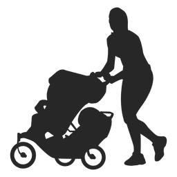 Mom with baby carriage 2