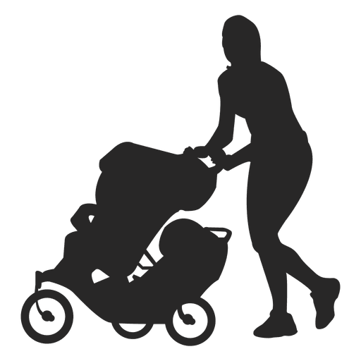 Mom with baby carriage 2 Transparent PNG