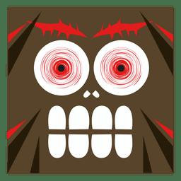 Cara de dibujos animados de monstruo
