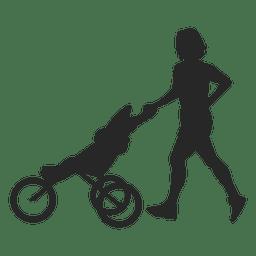 Madre con el carro de bebé