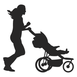 Mother with child carriage