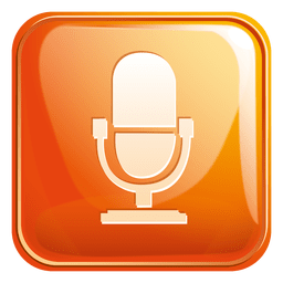 Mouth speaker square icon 2