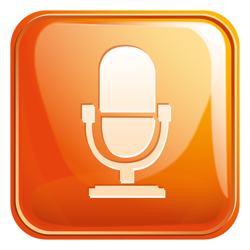 Mouth speaker square icon 2 Transparent PNG