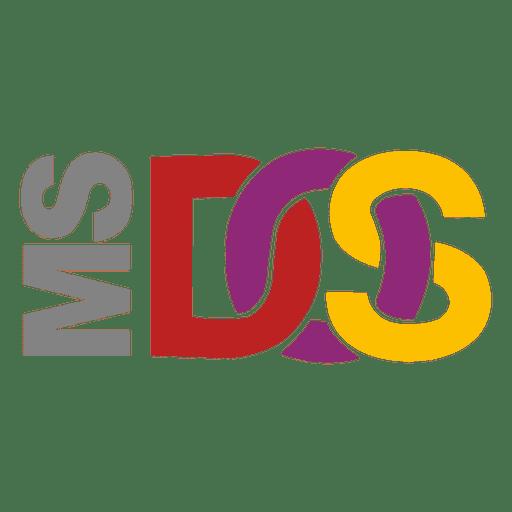 msdos logo - transparent png & svg vector