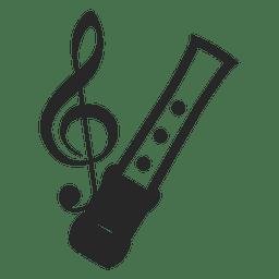 Silhueta de notas musicais