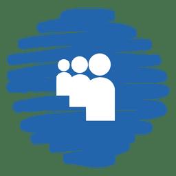 Myspace distorted round icon