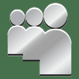 Myspace silver icon